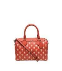 กระเป๋าสะพาย COACH MINI BENNETT SATCHEL BADLANDS FLORAL PURSE CARMINE MULTI F38160