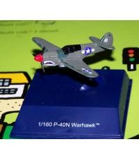 โมเดลเครื่องบินรบญี่ปุ่น P-40N Warhawk ขนาด6ซมพร้อมกล่องกระจก