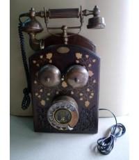 โทรศัพท์โบราณ โทรศัพท์บ้านแบบหมุน (แขวนผนัง) - SIEMENS BROTHERS