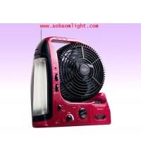 ไฟฉาย+พัดลม,ไฟกระพริบ,นาฬิกาปลุก,ไซเรน.AM/FM, CK 9855