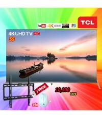 55 TCL 4K UHD TV AI-IN  ANROID TV  9.0  รุ่น 55P8S 55P8 แถมฟรีขาแขวน หรือเม้าไร้สาย