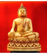 พระพุทธรูปงาแกะ ลอยองค์ รักชาด บางๆ เก่าจริง