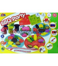 Color Clay ชุด บาร์บีคิว (ZAN) แป้งโดหลากสีสำหรับปั้นเล่นตามจินตนาการ พร้อมบล๊อกพิมพ์