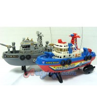 เรือบังคับใส่ถ่าน (FEN) 2 ใบพัด มี 2 แบบให้เลือก  สำสวยน่าเล่น มีไฟมีเสียง