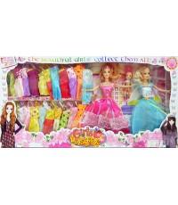 Girls Briskness(FPT) ตุ๊กตาบาร์บี้ชุดใหญ่พิเศษ มี 3 ตัว พร้อมชุดให้เปลี่ยนเล่นมากมาย กว่า 20 ชุด