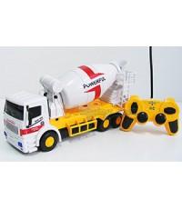 รถโม่ปูน Super Truck Mixer (UIN) บังคับวิทยุไร้สาย มีไฟ โม่หมุนได้เหมือนจริง