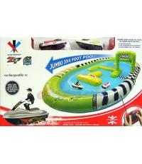 2 Speed Boat Pool (ZLTN) เรือบังคับ Speed Boat 2 ลำ พร้อมสระใหญ่แข่งกันได้