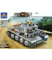 ตัวต่อชุดรถถัง Panzer38(t)  No.KY82009(JAN)   จำนวน 868+ ชิ้น งานสวยมากๆ