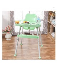 เก้าอี้เสริมเด็กสำหรับทานข้าว ปรับระดับได้ สีเขียว