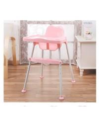 เก้าอี้เสริมเด็กสำหรับทานข้าว ปรับระดับได้ สีชมพู