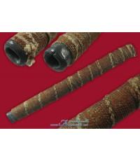 ตะกรุดตะกั่วเก่า ม้วน 8-9 รอบ ตะกั่วเก่าขึ้นไข พันเชือกชุบรักยางไม้
