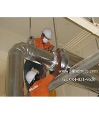 งานหุ้มฉนวนกันความร้อนท่อไอเครื่องปั่นไฟ   ฮอนด้า ลาดกระบัง