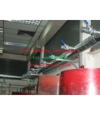งานท่อดักท์ Exhaust  ห้องขัดมือ-ห้องขัดเครื่อง   หน้างาน นิคมอุตสาหกรรมบางชัน