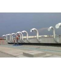 งานผลิต ติดตั้งท่อดักท์ EXHAUST ระบายความร้อนเตา   หน้างาน ไอชิน เอ-ไอ นิคมอุตสาหกรรมเวลโกรส์
