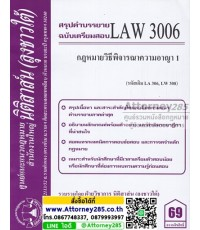ชีทสรุป LAW 3006 กฎหมายวิธีพิจารณาความอาญา 1 ม.รามคำแหง (นิติสาส์น ลุงชาวใต้)