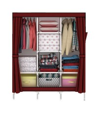 ตู้เสื้อผ้า ตู้เสื้อผ้าพลาสติก ราคาตู้เสื้อผ้า tu00002-1 ตู้เสื้อผ้า index 3 บล็อค สีแดง