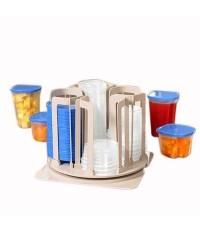 ชุดภาชนะสำหรับใส่อาหาร 49 ชิ้นสุดคุ้ม ชุดวาง shopper ware ภาชนะสำหรับใส่อาหาร หลากหลายไซส์ SPIN-N-ST