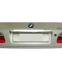 คิ้วสแตนเลสคาดฝาท้ายรถ BMW E-46
