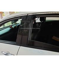 เสาประตู ฺBlack Kevlar Civic 6 ชิ้น (sedan)