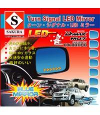 เลนส์กระจกสีฟ้าตัดแสง พร้อมไฟเลี้ยวLED FOR ISUZU D-MAX, MU 7, MU-X , Chevrolet Colorado, TRIALBLZER