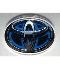แผ่น LOGO TOYOTA ไฮบริท(HYBRID) รถ Toyota   ขนาด 10 CM, 12 CM, 13 CM