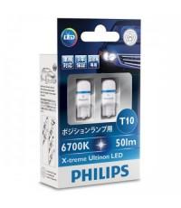 หลอดไฟหรี่ PHILIPS X-treme Ultinon LED 6,700K T10