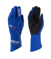 SPARCO The Blizzard KG-3 karting glove ถุงมือนักแข่ง SPARCO มีขนาด S M L XL สีน้ำเงิน Blue
