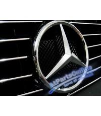 Auto Pro. กระจังหน้าสปอร์ตสีดำ ดาวกลางคิ้วโครเมี่ยม รถเบนซ์ Mercedes-Benz W201 รุ่น 4 ประตู 190 190D