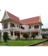 (มีผู้เช่าแล้ว) บ้านทรงไทย ให้เช่า!  สวย พร้อมเฟอร์ บรรยากาศสุดยอด หลังบ้านติดแม่น้ำ ใกล้ราชพฤกษ์