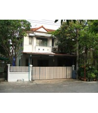 (มีผู้เช่าแล้ว)บ้านเช่าราคาถูก ทาวน์เฮาส์หลังมุม พร้อมเฟอร์ จอดรถได้4คัน ม.KC.1 มีนบุรี ถ.หทัยราษฎร์