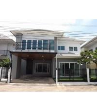 (มีผู้เช่าแล้ว)ให้เช่า บ้านเดี่ยวสวยมาก หลังใหญ่ หรูหรา เฟอร์ทั้งหลังพร้อมอยู่ หมู่บ้านรัชชา บางใหญ่