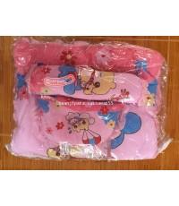 ที่นอนสำเร็จรูปเด็กแรกเกิด เด็กเล็ก เนื้อนุ่ม สีชมพู