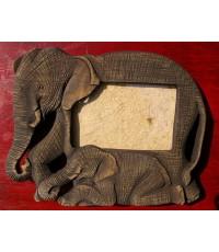 กรอบรูปช้างแม่ลูก