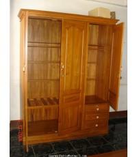 ตู้เสื้อผ้าประตูปิดเปิด 3 บาน