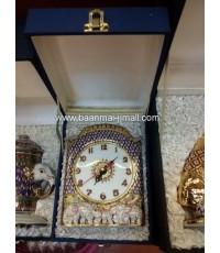 ชุดนาฬิกาเบ็ญจรงค์ตั้งโต๊ะพร้อมกล่องผ้าไหม