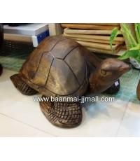 เต่ามหาลาภ ไม้สัก ขนาด 12 * 19 นิ้ว สูง 8 นิ้ว