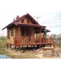 บ้านไม้สำเร็จรูปผนังฝาไม้สัก(Prefabricated Wooden Home)