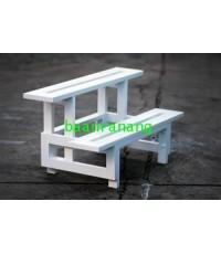 บ้านระแนง - ชั้นวางกระถางต้นไม้พีวีซี (PVC) 2 ชั้น (3สี) PPS-90/2