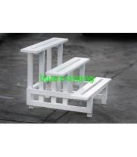 บ้านระแนง - ชั้นวางกระถางต้นไม้พีวีซี (PVC) 3 ชั้น (3สี) PPS-90/3