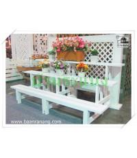 บ้านระแนง - ชั้นวางกระถางต้นไม้พีวีซี (PVC) 3 ชั้น (3สี) PPS-160/3