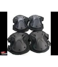 9mm.tactical.X-TAKสนับเข้า+ศอก(อย่างดี)สีดำราคาชุดละ450บาท