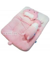 ชุดที่นอนเด็กปิคนิคผ้าเวลบัวหน้ากระต่าย Papa H29/2