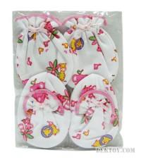 ถุงมือถุงเท้าเด็กแรกเกิดแพ็ค 1 โหล