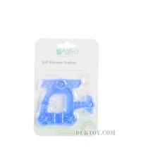 ยางกัดซิลิโคนบาบิโต้ รูปเฮลิคอปเตอร์ฟ้า BPA Free