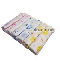 ผ้าอ้อมเนื้ออองฟอง-Enfant Daiper Cotton พิมพ์ลาย ไซส์ 29 x 29 นิ้ว แพ็ค 6 ผืน
