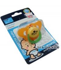 จุกนมหลอก Papa CEQ-071/1 สีส้ม BPA FREE