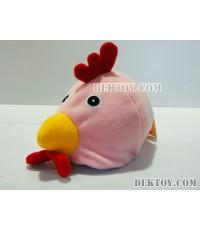 หมวกเด็กหน้าไก่ สีชมพู