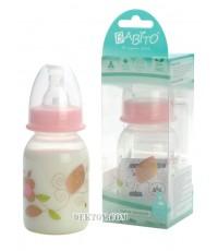 ขวดนมบาบิโต้ คาบานา 4 ออนซ์ สีชมพู BPA Free แพ็ค 1 ขวด
