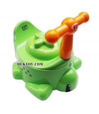 กระโถนเด็กรูปเต่าสีเขียว USE-A04