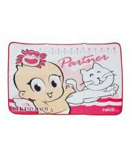 ผ้ายางปูรองปัสสาวะ 2 หน้า ฟาร์ลิน USE-432 สีชมพู